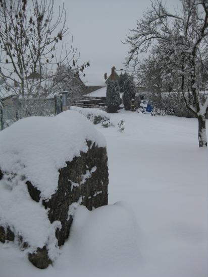 Le Rocher sous la neige